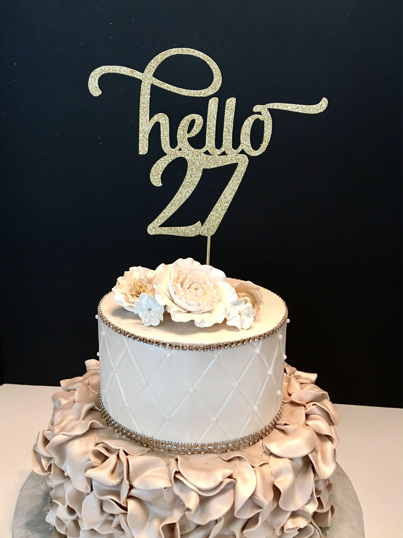 Custom Gold Name Cake Topper