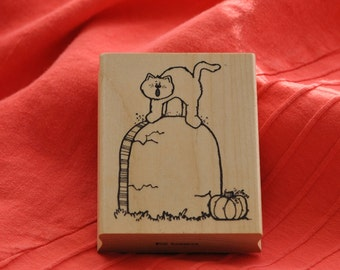 Tombstone PO6 Rubber Stamp  By: Hook's Lines & Inkers 1993  Vintage