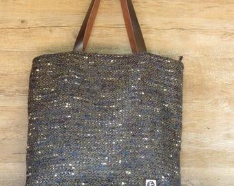 Wool bag, handmade bag, handmade bag, big bag, shoulder bag, fancy wool bag, woman bag, large bag