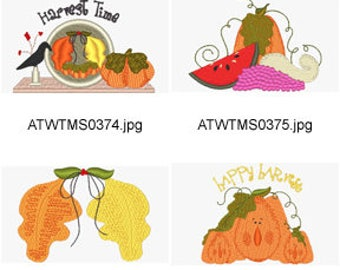 Autumn-Collection ( 12 Machine Embroidery Designs from ATW ) XYZ17I