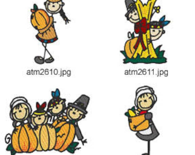 Thanksgiving-Sticks ( 7 Machine Embroidery Designs from ATW ) XYZ17I