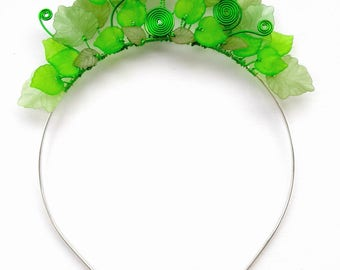 Green Forest Headband, Green Fairy Headband