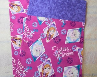 Frozen Pillowcase-Frozen-Pillowcase Made from Frozen Forever Sisters Fabric-Character Pillowcase-