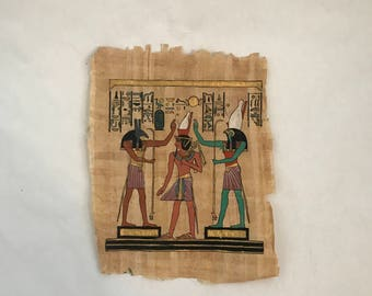 Egyptian Rice Paper Painting