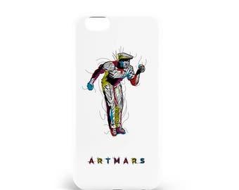 The player case. PVC. iPhone 4, 4s, 5, 5s, SE, 5 c, 6, 6, 6 Plus 6s Plus, 7 and 7 more, design illustration, madeinfrance, artmars