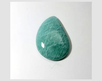 30 Cts 32X22X5mm Amazonite Cabochon Loose Gemstone Fancy Shape Top Quality Amazonite Gemstones For Jewelry Making