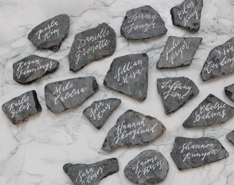 Custom Handwritten Slate Place Cards