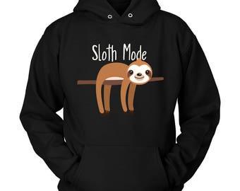 Sloth Mode, Sleepy Sloth, Sloth Hoodie, Hanging sloth, Sloth Gifts Women, Cute Sloth, Sloth Lover, Sloth Gift, Sloth Life, My Spirit Animal