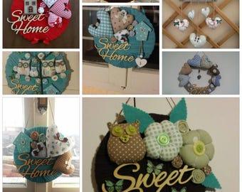 Decoration door ' Sweet Home '