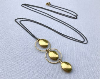 Modern Locket, Geometric Locket, Circle Necklace, Industrial Jewelry, Family Tree Locket, Mother's Day Locket, Trending Jewelry, Mom Gift