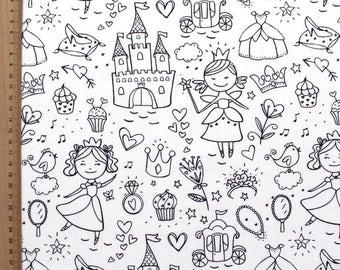 Cinderella - fabric coloring