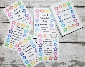 Teacher Achievement Cards, Teacher Milestone Cards, Teacher Gift
