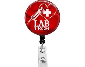 Lab Tech - Badge Reel Retractable ID Badge Holder