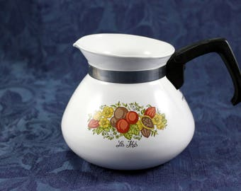 Vintage Corning Ware Spice of Life Le The Teapot, 6 Cups, Vintage from 1970s