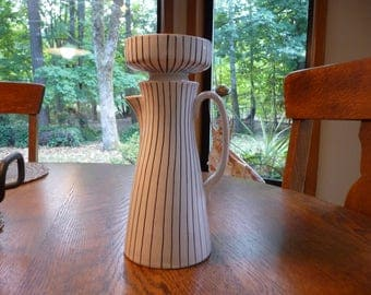 Raymor Modern Art Pottery Italy Coffee Carafe and Bowl