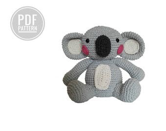 CROCHET PATTERN - kimimals - drowsy the koala - amigurumi - diy - pdf