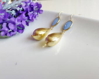 Pendant Earrings, Drop Earrings, Gold Drop, Gold Earrings