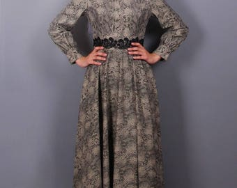 Made in turkish Abaya Long Maxi  Snake print Arched Dress