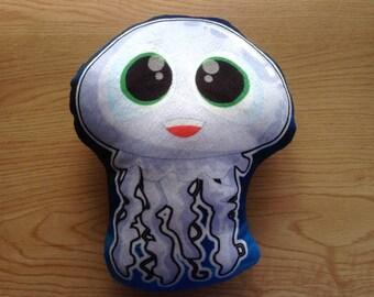 Jellyfish Pillow, Double sided, Jellyfish plushie pillow, Jellyfish Plush pillow, Cute Stuffed pillow, Sea animal pillow, Sea creature