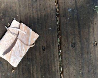 mini pink leather bag