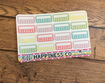 MINI Habit Tracking Stickers - Habit Stickers - Planner Stickers - Functional Stickers - Mini Happy Planner - Bullet Journal