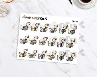 TA154 | PLAYING TOYS | Tinta | Planner Stickers