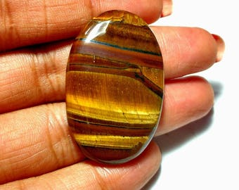 Golden tiger eye cabochon 1 piece 8.8 gm GM 496