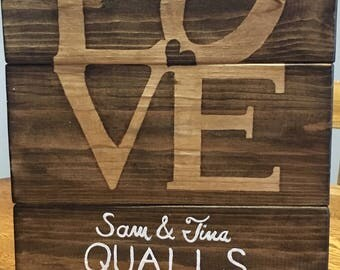 LOVE home wall decor, wedding gift