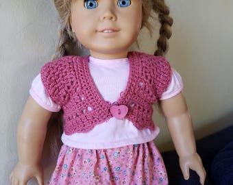 Lacy  Shrug for 18 inch dolls/ American Girl Dolls