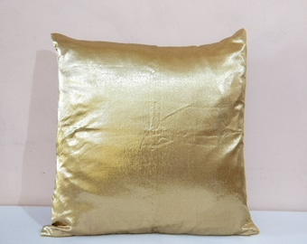Gold Pillow Covers/ Gold Cushion Covers/ Handmade Gold Pillow/ Gold Pillow Case/ Gold throw pillow/ Gold Pillows/ Decorative pillows