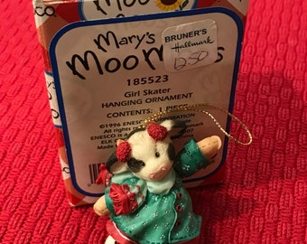 Mary's Moo Moos 1996 Hanging Ornament Girl Skater #185523 Retired
