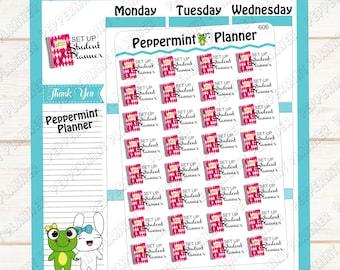 Set up Student Planner --- Planner Sticker -- 606