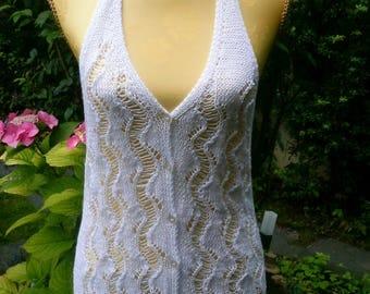 Neck-holder sweater vest, white, Gr. 38-40 (M), 14, US 12, UK