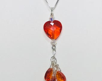 Hot Heart CZ Necklace