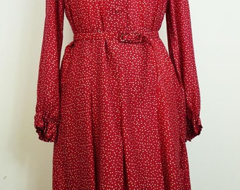 vintage 1940's style dress printed spring T44