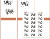 Coffee date Iced Hot Take out break time cold brew starbucks Planner Stickers Erin Condren Kikki K Filofax Travelers Notebook Midori SF0025