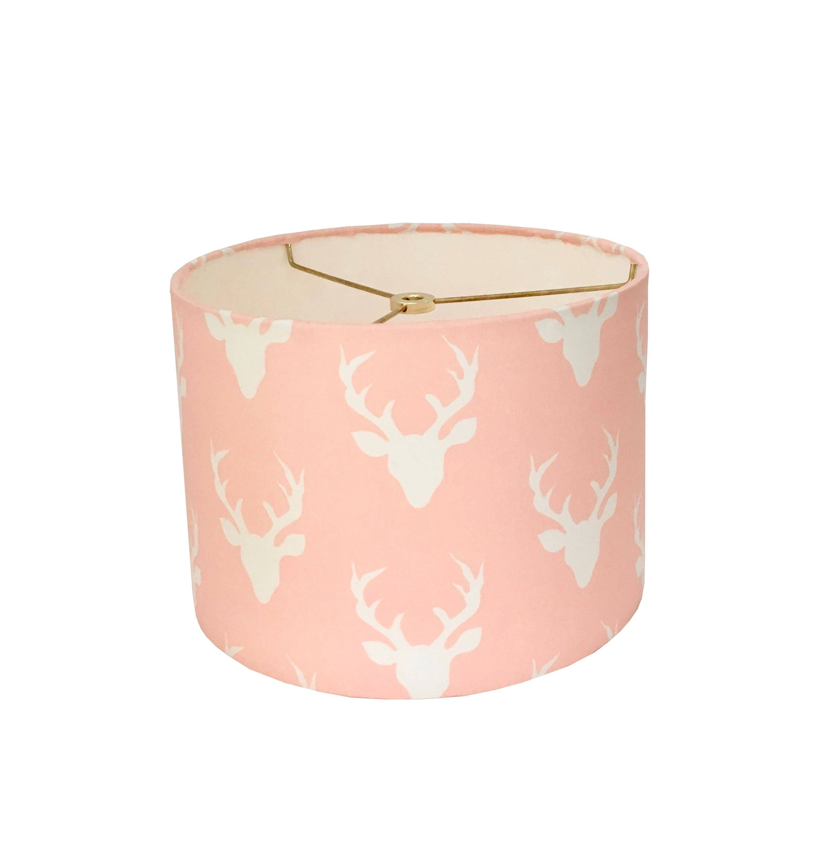Drum lampshade woodland deer lamp shade kids room pink lamp shade drum lampshade woodland deer lamp shade kids room pink lamp shade nursery lampshade hello bear buck forest pink baby girl room table lamp aloadofball Images