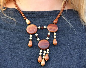ethnic jewelry ethnic necklace african jewelry Wooden jewelry Wooden necklace Wood jewelry Wood Bead necklace Wood necklace tribal jewelry