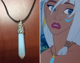 Kida Necklace, Lost city of atlantis, Kida cosplay, Kida costume, princess kida, atlantis cosplay, pointed crystal necklace