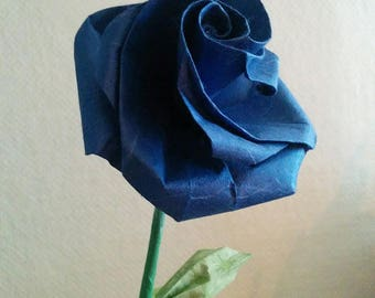 Genuine (F_013) origami Blue rose