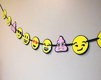 Emoji Birthday Banner/ Emoji Party Banner/Emoji Faces Banner