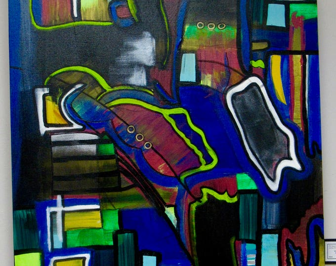 "Large Original Abstract Painting ""Playground"""