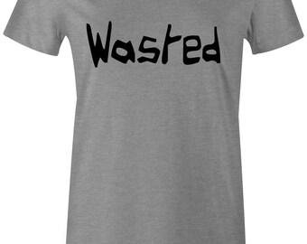 Wasted T-Shirt Mens & Womens, Stoners Shirt, 420 Shirt, Slogan Tee, Funny T-Shirt, Weed Shirt, Hemp Shirt - More Colors Available