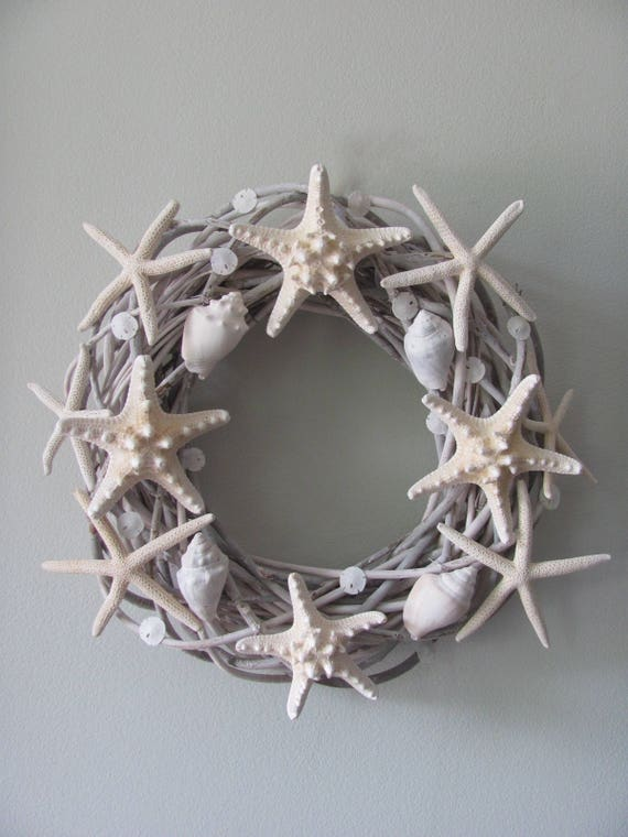 Starfish Wreath, Shell Wreath, Nautical Wreath, Coastal Wreath, Beach Decor, Starfish Decor, Star fish decor, Coastal Chic Decor