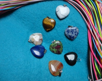 PRICE REDUCED! colors, gemstones necklaces fine hearts and cords to choose from colors vibrant and full of joy!