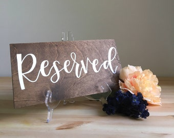 Reserved Sign
