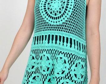 Crochet top in Green