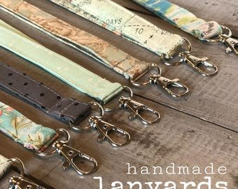 LANYARDS!!  Fabric Lanyard with Swivel Clasp - Great Teacher Gift, Co-Worker, Business, Bridal Party