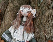 Jointed doll - Handmade doll - | Isobel | - elf doll - bohemian doll - cloth doll - bead jointed doll - ooak doll | by Miss Moth dolls