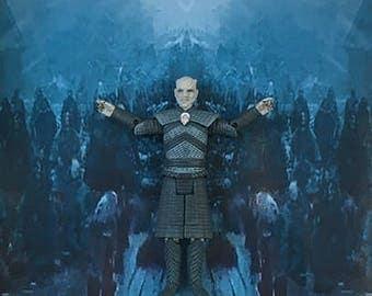 Game Of Thrones Inspired Night King 3-D Effect Framed Wall Art